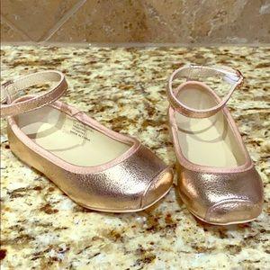 Rose gold ballerina dress shoes